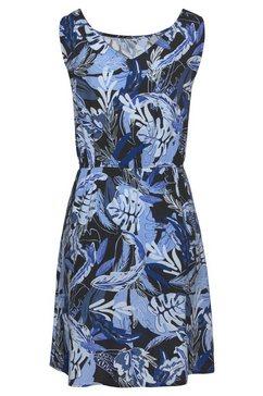 tom tailor denim gedessineerde jurk blauw