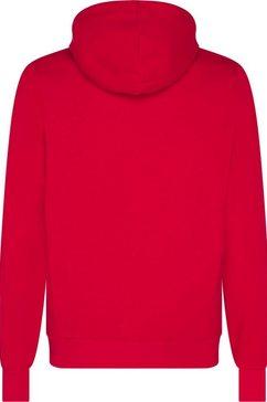 tommy sport hoodie »flag fleece hoody« rood
