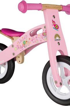 "bikestar loopfiets ""holz"", 10 inch roze"