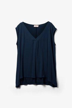 triangle materiaal mix-shirt blauw