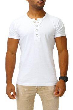 joe franks t-shirt »big button« wit