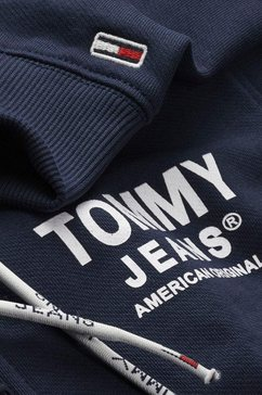tommy jeans capuchonsweatvest »tjm essential graphic zipthrough« blauw