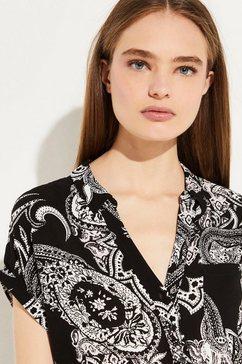 comma gedessineerde blouse zwart