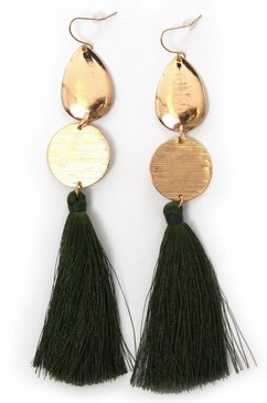 j jayz oorhangers »vergoldet und mit gruene quasten« groen