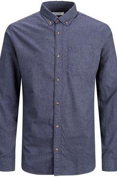 jack  jones overhemd met lange mouwen »classic melange shirt« blauw