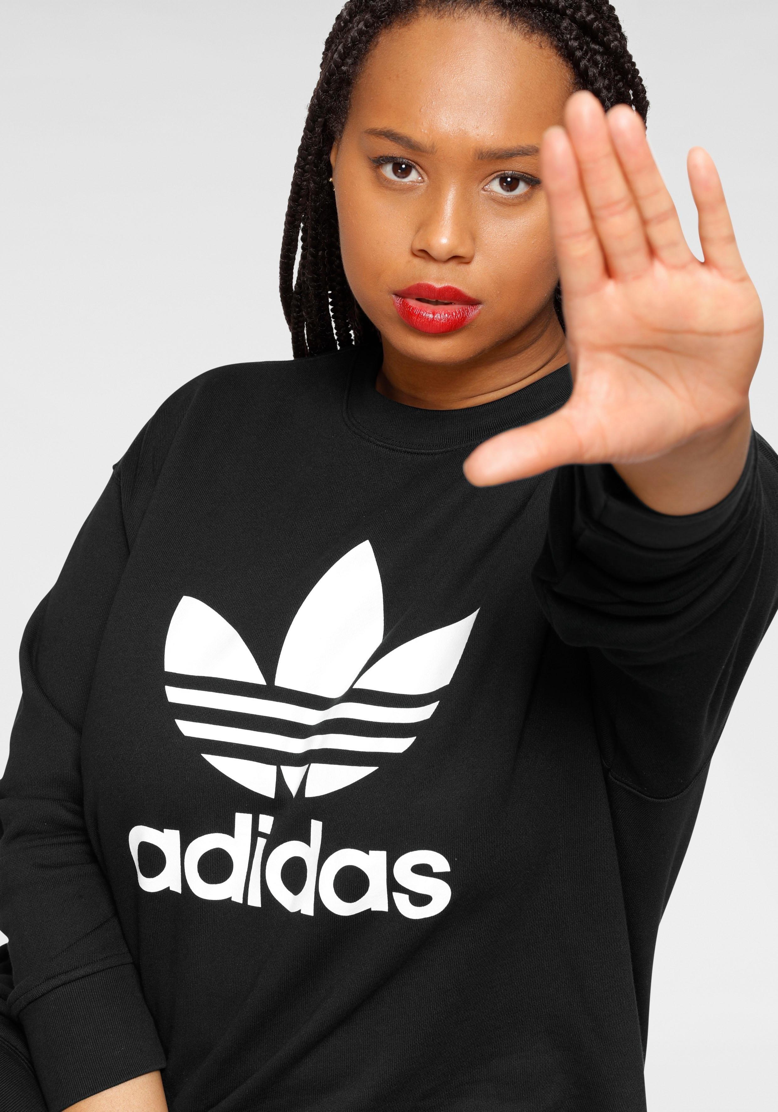 adidas Originals sweatshirt TREFOIL SWEATSHIRT - GROTE MATEN voordelig en veilig online kopen