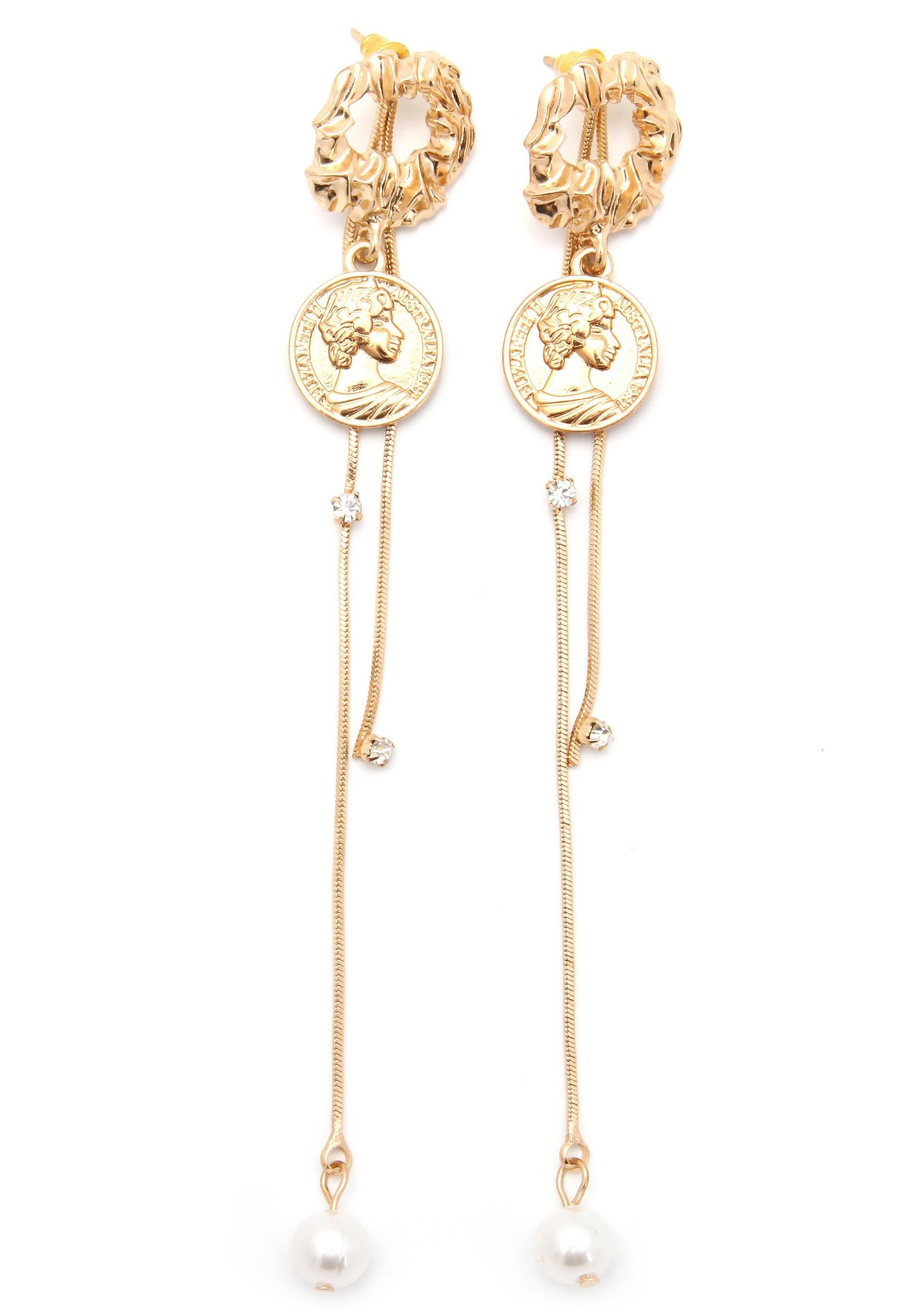 J JAYZ oorstekers »mit Münzen, glamourös, vergoldet« bij OTTO online kopen