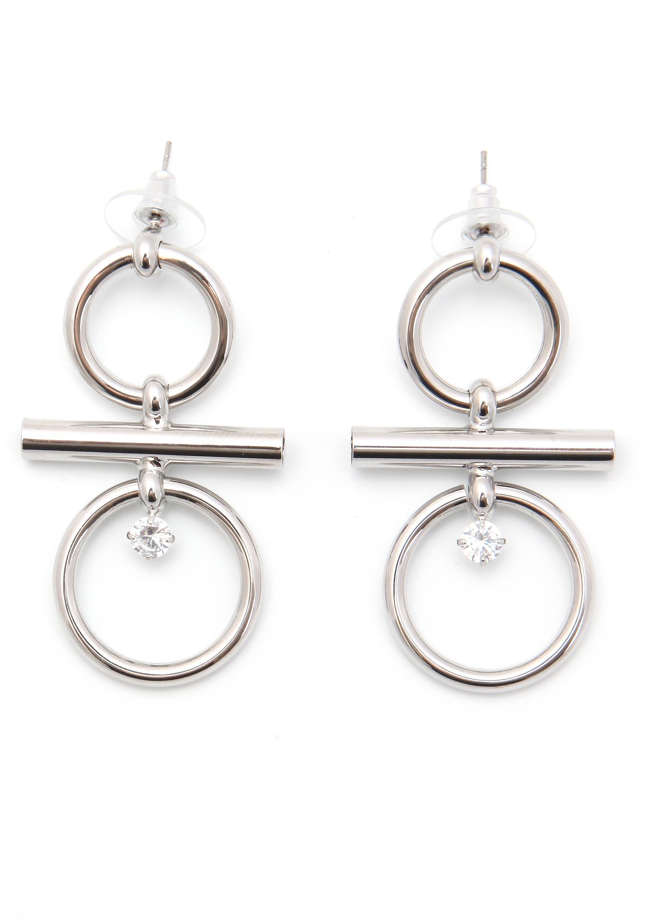 J JAYZ oorstekers »Kreis-Design, rhodiniert« nu online bestellen