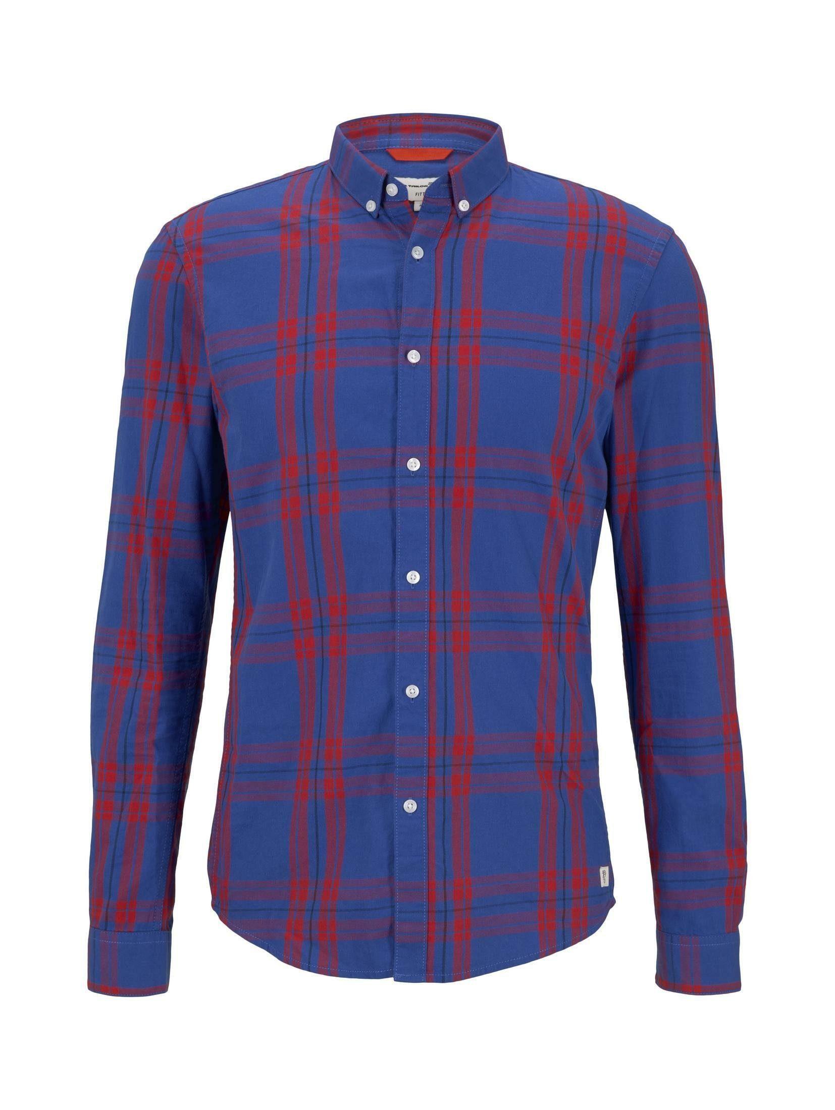 Tom Tailor Denim Overhemd Met Lange Mouwen Gemustertes Hemd In De Online Winkel - Geweldige Prijs