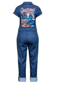 queenkerosin jumpsuit »gearhead« blauw