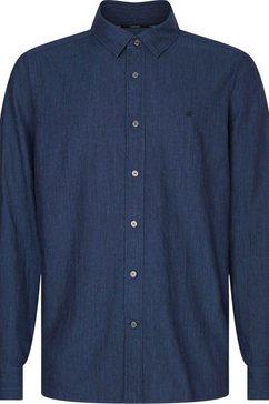 calvin klein overhemd met lange mouwen »two tone heather twill shirt« blauw