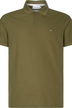calvin klein poloshirt »refined pique logo slim polo« groen