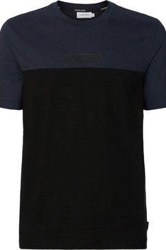 calvin klein t-shirt »color block t-shirt« blauw