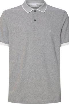calvin klein poloshirt »2 tone logo pique polo« grijs