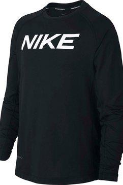 nike shirt met lange mouwen b np ls fttd top zwart