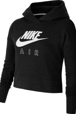 nike hoodie »girls air crop hoodie« zwart