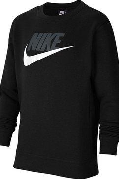 nike sweatshirt »club futura crew« zwart