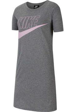 nike shirtjurk »girls futura tshirt dress« grijs