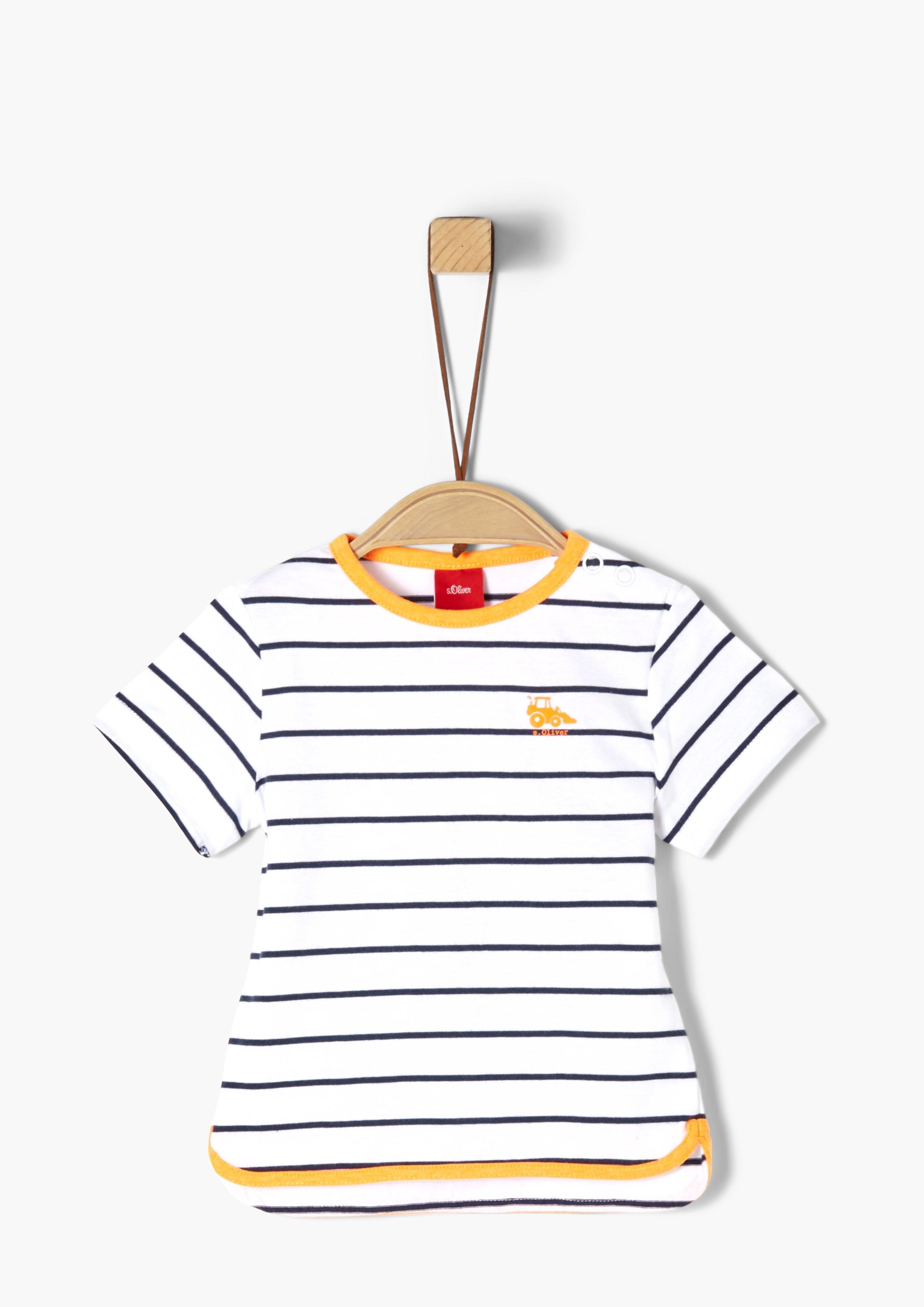 s.Oliver RED LABEL s.Oliver Junior Jersey shirt met rucheachtig detail voor baby veilig op otto.nl kopen