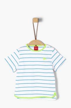 s.oliver junior jersey shirt met rucheachtig detail voor baby blauw