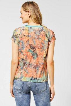 cecil shirt met print oranje