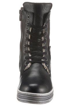 cosmos comfort hoge veterschoenen zwart