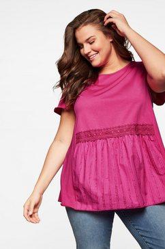 sheego lang shirt roze