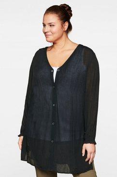 sheego lange blouse zwart