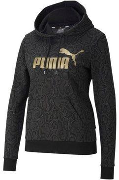 puma hoodie »ess+ aop hoodie« zwart