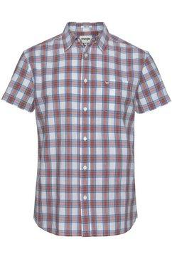 wrangler overhemd met korte mouwen wit