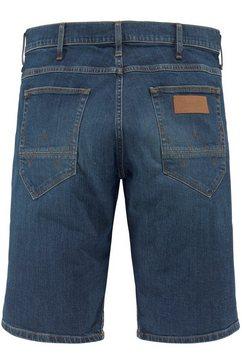wrangler jeansshort »colton« blauw