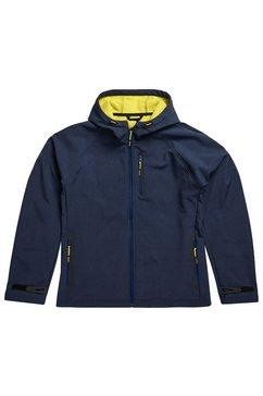 superdry softshell-jack »hooded softshell« blauw