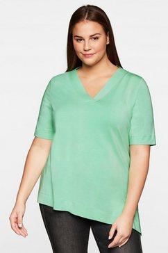 sheego lang shirt groen
