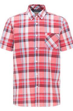 mustang overhemd met korte mouwen »collin basic check« rood
