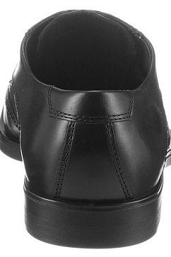 ecco schoenen met perforatie »melbourne« zwart