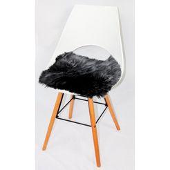heitmann felle stoelkussen »sitzauflage eckig« grijs