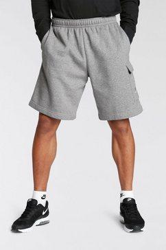 nike sportswear sweatshort club mens cargo shorts grijs