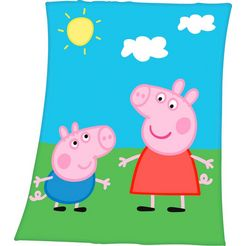 kinderdeken »peppa pig« multicolor