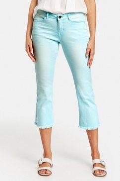 taifun korte broek jeans »7-8 flared-jeans cropped ts«