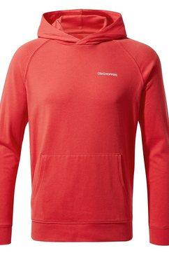 craghoppers hoodie »kinder nosilife kapuzenpullover bonito« rood