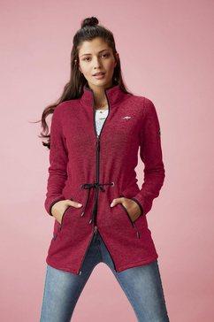 kangaroos tricot-fleecejack rood