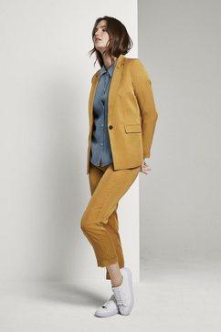 tom tailor mine to five top »oversized kurzarm-bluse im denim-look« blauw
