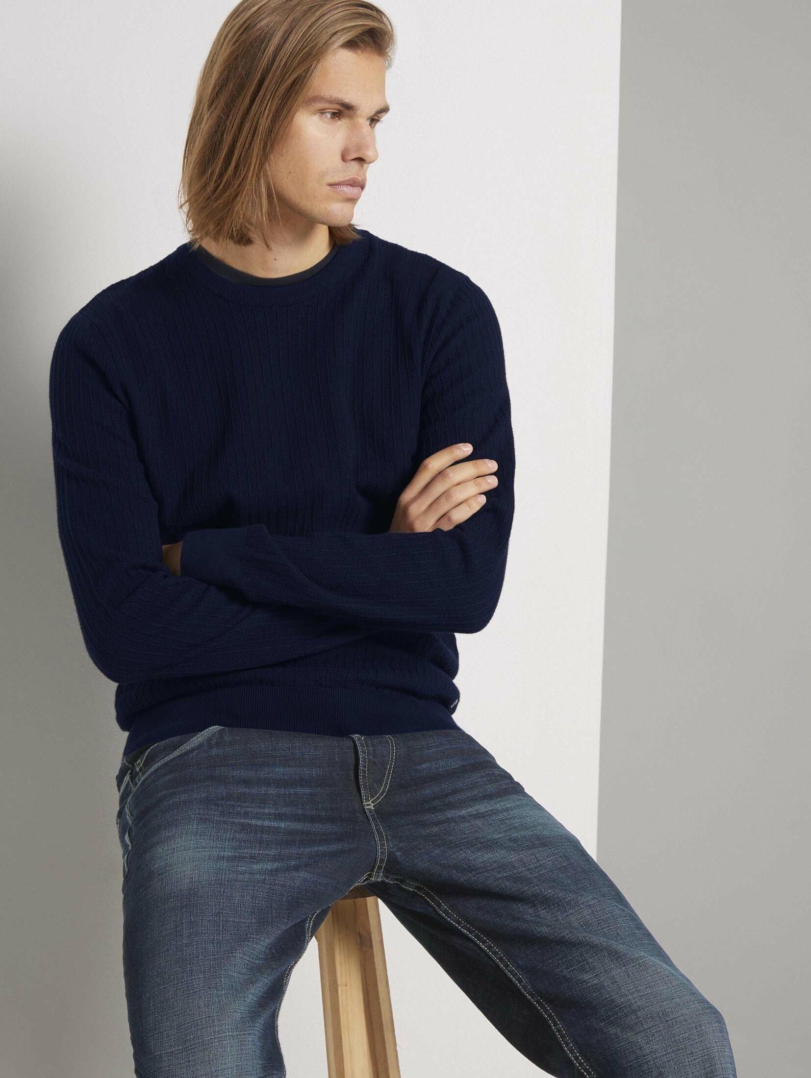 Tom Tailor Denim gebreide trui »strukturierter Pullover« - gratis ruilen op otto.nl