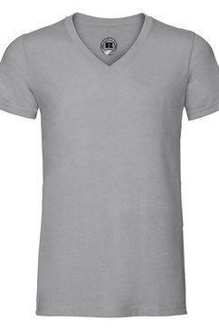 russell t-shirt »herren hd mit v-ausschnitt, kurzaermlig« zilver