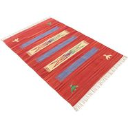 carpetfine vloerkleed »kelim dodi« rood