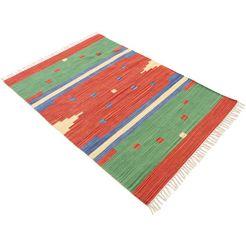 carpetfine vloerkleed »kelim amar« rood