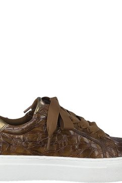 marco tozzi plateausneakers bruin