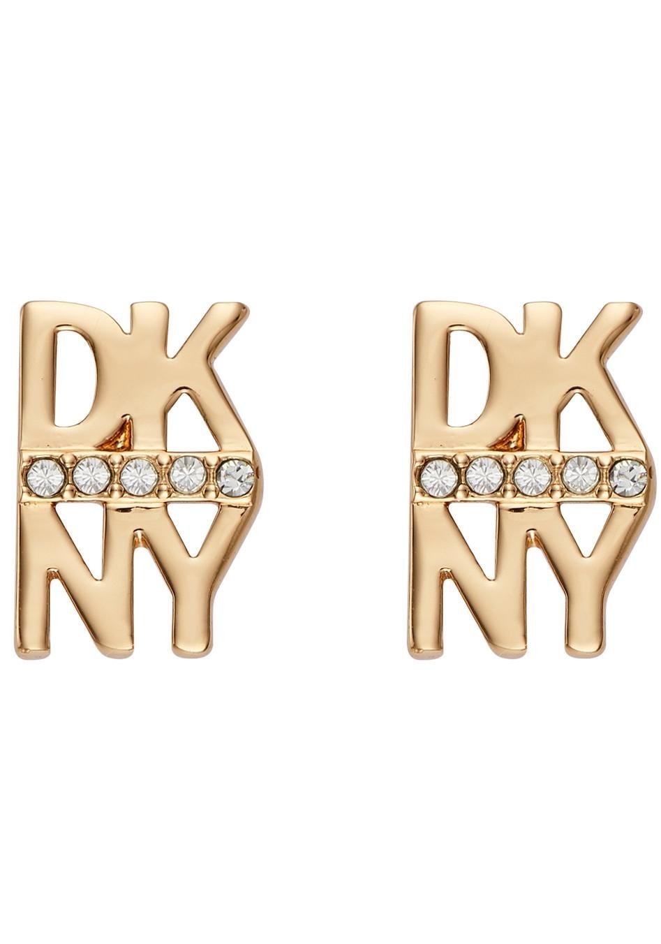 DKNY oorstekers »Stacked Pave Logo Stud ER (GL), 5520004« in de webshop van OTTO kopen