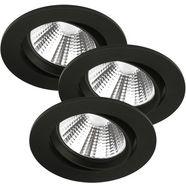 nordlux led-inbouwlamp »freemont 3 kit« zwart