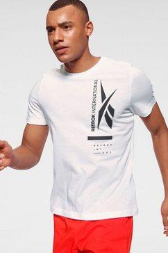 reebok t-shirt »graphic tee« wit